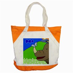 Butterfly and rhino Accent Tote Bag