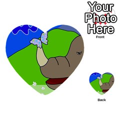 Butterfly and rhino Multi-purpose Cards (Heart)