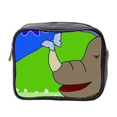 Butterfly and rhino Mini Toiletries Bag 2-Side