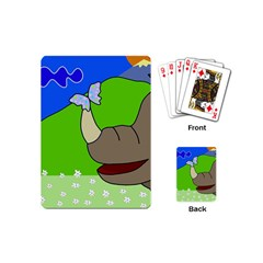 Butterfly and rhino Playing Cards (Mini)