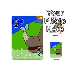 Butterfly and rhino Playing Cards 54 (Mini)