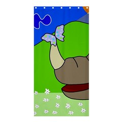 Butterfly and rhino Shower Curtain 36  x 72  (Stall)