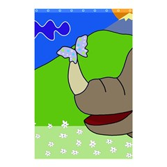 Butterfly and rhino Shower Curtain 48  x 72  (Small)