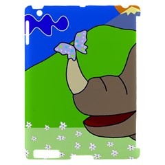 Butterfly and rhino Apple iPad 2 Hardshell Case (Compatible with Smart Cover)