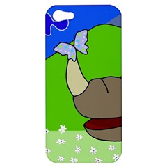 Butterfly and rhino Apple iPhone 5 Hardshell Case