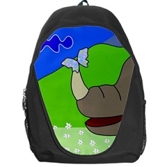 Butterfly and rhino Backpack Bag