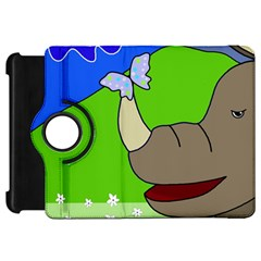 Butterfly and rhino Kindle Fire HD Flip 360 Case