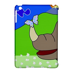 Butterfly and rhino Apple iPad Mini Hardshell Case (Compatible with Smart Cover)