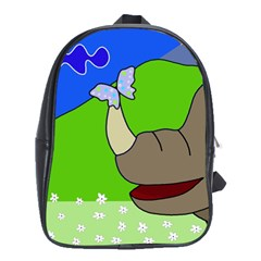 Butterfly and rhino School Bags (XL)