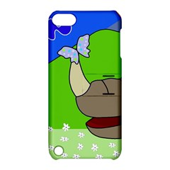 Butterfly and rhino Apple iPod Touch 5 Hardshell Case with Stand