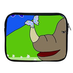 Butterfly and rhino Apple iPad 2/3/4 Zipper Cases