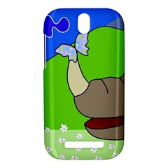 Butterfly and rhino HTC One SV Hardshell Case