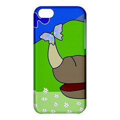 Butterfly and rhino Apple iPhone 5C Hardshell Case