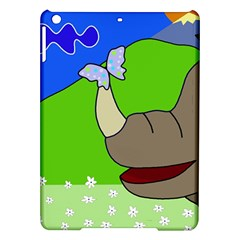 Butterfly and rhino iPad Air Hardshell Cases