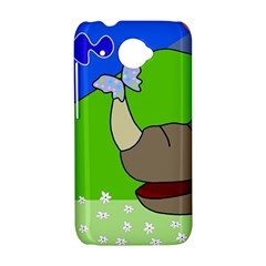 Butterfly and rhino HTC Desire 601 Hardshell Case