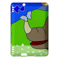 Butterfly and rhino Kindle Fire HDX Hardshell Case