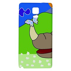 Butterfly and rhino Galaxy Note 4 Back Case