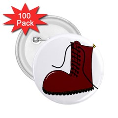 Boot 2.25  Buttons (100 pack)