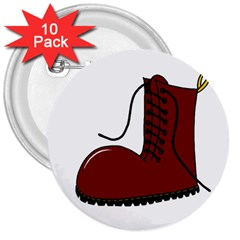 Boot 3  Buttons (10 pack)