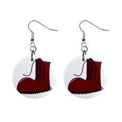 Boot Mini Button Earrings