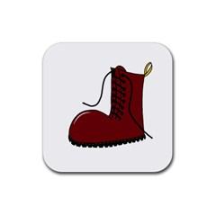 Boot Rubber Coaster (Square)