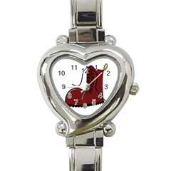 Boot Heart Italian Charm Watch