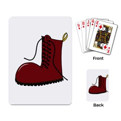 Boot Playing Card