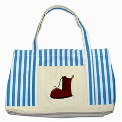 Boot Striped Blue Tote Bag