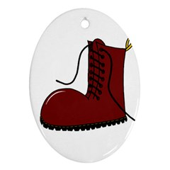 Boot Oval Ornament (Two Sides)