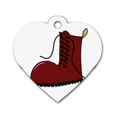 Boot Dog Tag Heart (Two Sides)