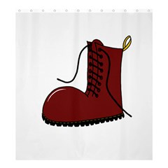 Boot Shower Curtain 66  x 72  (Large)