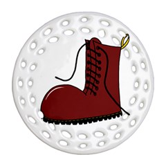 Boot Ornament (Round Filigree)