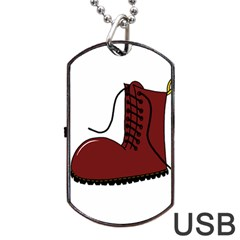 Boot Dog Tag USB Flash (Two Sides)
