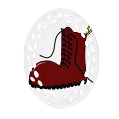 Boot Ornament (Oval Filigree)