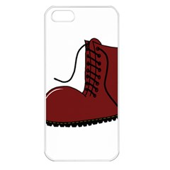 Boot Apple iPhone 5 Seamless Case (White)