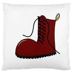 Boot Large Flano Cushion Case (One Side)