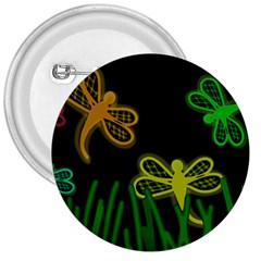 Neon dragonflies 3  Buttons