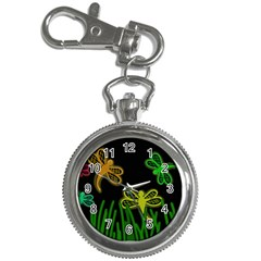 Neon dragonflies Key Chain Watches