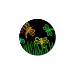 Neon dragonflies Golf Ball Marker (10 pack)