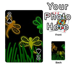 Neon dragonflies Playing Cards 54 Designs