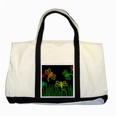 Neon dragonflies Two Tone Tote Bag