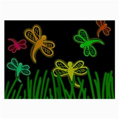 Neon dragonflies Large Glasses Cloth