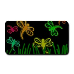 Neon dragonflies Medium Bar Mats
