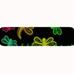 Neon dragonflies Large Bar Mats
