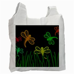 Neon dragonflies Recycle Bag (Two Side)