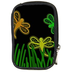 Neon dragonflies Compact Camera Cases
