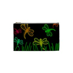 Neon dragonflies Cosmetic Bag (Small)