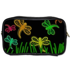 Neon dragonflies Toiletries Bags