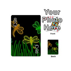 Neon dragonflies Playing Cards 54 (Mini)
