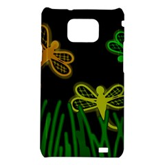 Neon dragonflies Samsung Galaxy S2 i9100 Hardshell Case